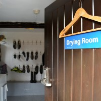 spacious drying room