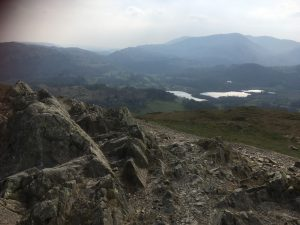 view from the summit of Loughrigg