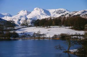 The cool Langdale Pikes